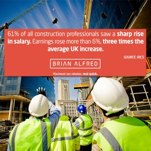 It's not just tax rebates that make contracting great. Recent demand for skills have led to a construction pay rise