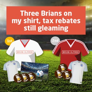 It's coming home - enter the Three Brians Facebook competition today