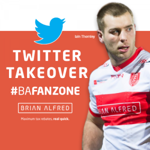 Brian Alfred introduced #BAFanZone with a Twitter Q&A with Hull KR centre Iain Thornley. Learn how you can win 2 tickets to their match with Warrington Wolves 1st July.