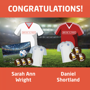 Congratulations to our Three Brians on Me Shirt Competition winners - Sarah Ann Wright and Daniel Shortland