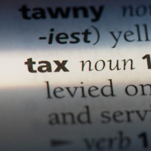 tax dictionary